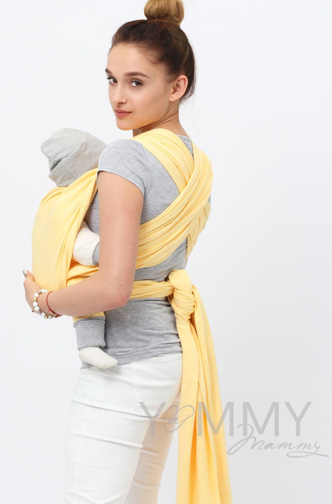 Изображение                               Трикотажный слинг светло-желтый