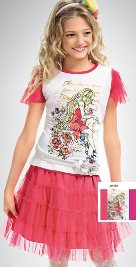 """Изображение Комплект для девочек """"Фея цветов"""" (футболка и юбка)"""