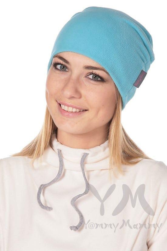 Изображение                               Флисовая шапочка бирюзовая