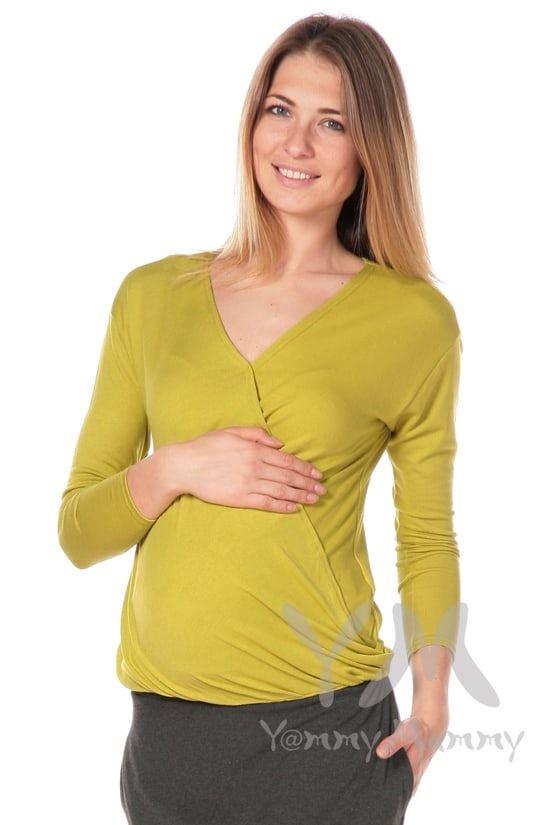 Изображение                               Блуза на запах лайм